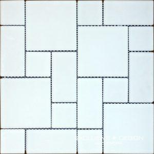 Mozaic alb sticla -MGL06-XX-01 pentru baie si bucatarie